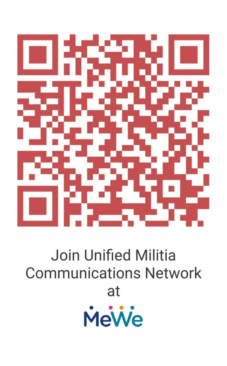 Unified Militia QR code for MeWe